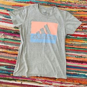 Adidas Gray Logo Tee